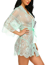 Load image into Gallery viewer, Avidlove Women's Lace Kimono Robe Babydoll Lingerie Mesh Nightgown