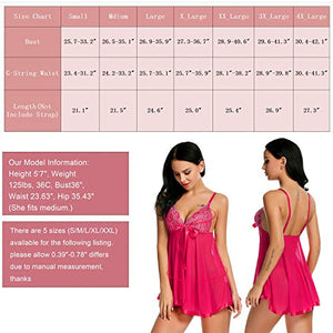 Avidlove Women's Lingerie Lace Babydoll Strap Chemise Mesh Sleepwear Outfits