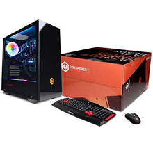 Load image into Gallery viewer, CYBERPOWERPC Gamer Master GMA1394A Gaming PC (Liquid Cooled AMD Ryzen 7 2700 3.2GHz, 16GB DDR4, NVIDIA GeForce RTX 2070 8GB, 240GB SSD, 2TB HDD, WiFi, Win10 Home) Black