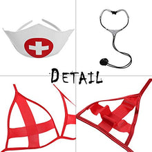 Load image into Gallery viewer, EDENIGHT Nurse Costume Women Lingerie Outfit Cosplay Nightwear with Stethoscope