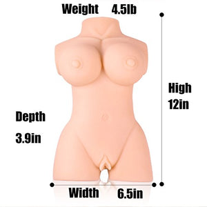 3D Life-Size Male Masturbator Love Doll C Cup Realistic Adult Sex Toy Stroker for Men Masturbation Women Full Size Real Torso Pussy Ass with Lifelike Vagina Anal Butt Massage Pussycat Dolls for Man