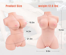 Load image into Gallery viewer, 3D Life-Size Male Masturbator Love Doll C Cup Realistic Adult Sex Toy Stroker for Men Masturbation Women Full Size Real Torso Pussy Ass with Lifelike Vagina Anal Butt Massage Pussycat Dolls for Man
