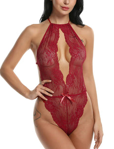 Avidlove Lingerie for Women Teddy One Piece Lace Babydoll Bodysuit