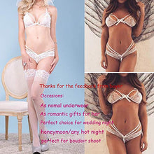 Load image into Gallery viewer, Avidlove Lingerie Lace Babydoll 2 Piece Sexy Bra and Panty Sets