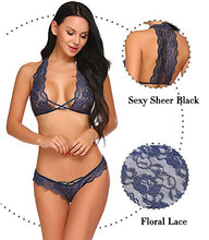 Load image into Gallery viewer, Avidlove Sexy Bra and Panty Set Lace Lingerie Strappy Babydoll Bodysuit 2 Piece Outfits