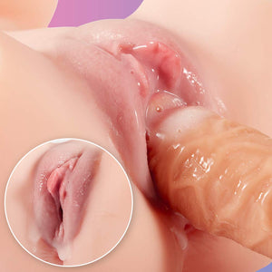 Sex Doll Male Masturbator with Vagina and Anal, 3D Realistic Love Doll with Torso for Men Masturbation, Fondlove Male Sex Toy with Pussy Ass Butt (with Torso)