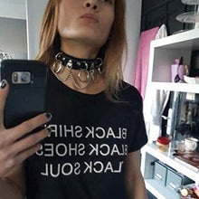 Load image into Gallery viewer, BeeGift Leather Choker Collar for Women, Sexy Vintage Cat Punk Goth Studded Rivet Pu Leather Collar Choker Adjustable Necklace for Women Girls