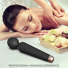 Load image into Gallery viewer, SENDRY Wand Massager - Personal Handheld Rechargeable Mini Massager Wireless Waterproof Mute - Relieves Muscle Stress (Black)