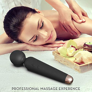 SENDRY Wand Massager - Personal Handheld Rechargeable Mini Massager Wireless Waterproof Mute - Relieves Muscle Stress (Black)