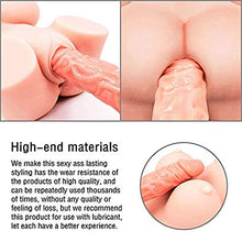 Load image into Gallery viewer, Love Doll Adult Male Toys Men's 3D Realistic Lifelike Silicone Love Toys, Pussy Ass Massager Toys for Male (Fullbody, 23×11×7)
