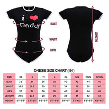 Load image into Gallery viewer, Littleforbig Adult Baby Onesie Diaper Lover (ABDL) Button Crotch Romper Onesie Pajamas - I Love Daddy Pattern