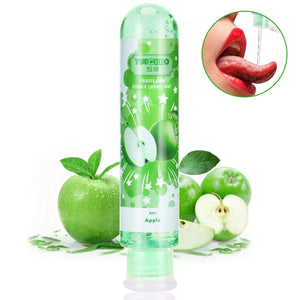 Flavored Personal Lubricant,Water Based Lube for Oral Sex,Natural Edible Lubricant for Women,Sensual Massage for Couples,80ml/2.78 Ounce Sex Lube for Men (Apple)