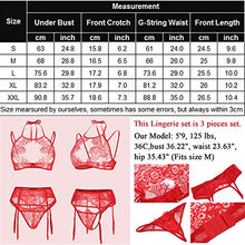 Load image into Gallery viewer, Avidlove Women Lace Lingerie Set with Garter Belts Lace Teddy Babydoll Bodysuit