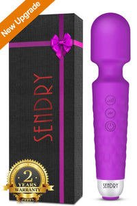 SENDRY Wand Massager - New Upgrade 160 Magic Vibration Modes - Handheld Wireless Waterproof Mute Rechargeable Personal Massager for Neck Shoulder Back Body Relieves Muscle Tension - Best Gift (Black)