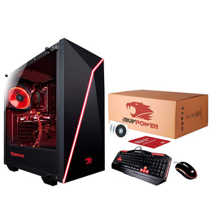 iBUYPOWER Gaming Computer Desktop PC AM005A AMD FX-8320 8-Core 3.5Ghz (4.0Ghz), NVIDIA GeForce GT 730 2GB, 8GB DDR3 RAM, 2TB HDD, Win 10 Home