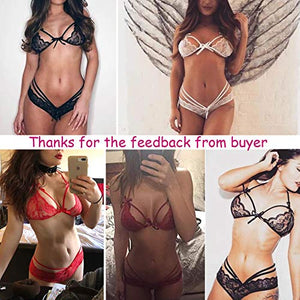 Avidlove Lingerie Lace Babydoll 2 Piece Sexy Bra and Panty Sets
