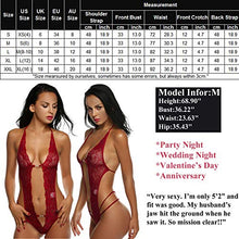 Load image into Gallery viewer, Avidlove Women Deep V Lingerie Lace Babydoll Mini Bodysuit