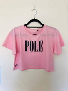 "Pink ""POLE"" Cropped Tee"