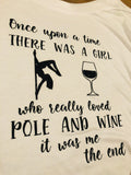 White Batwing with Pole & Wine Quote