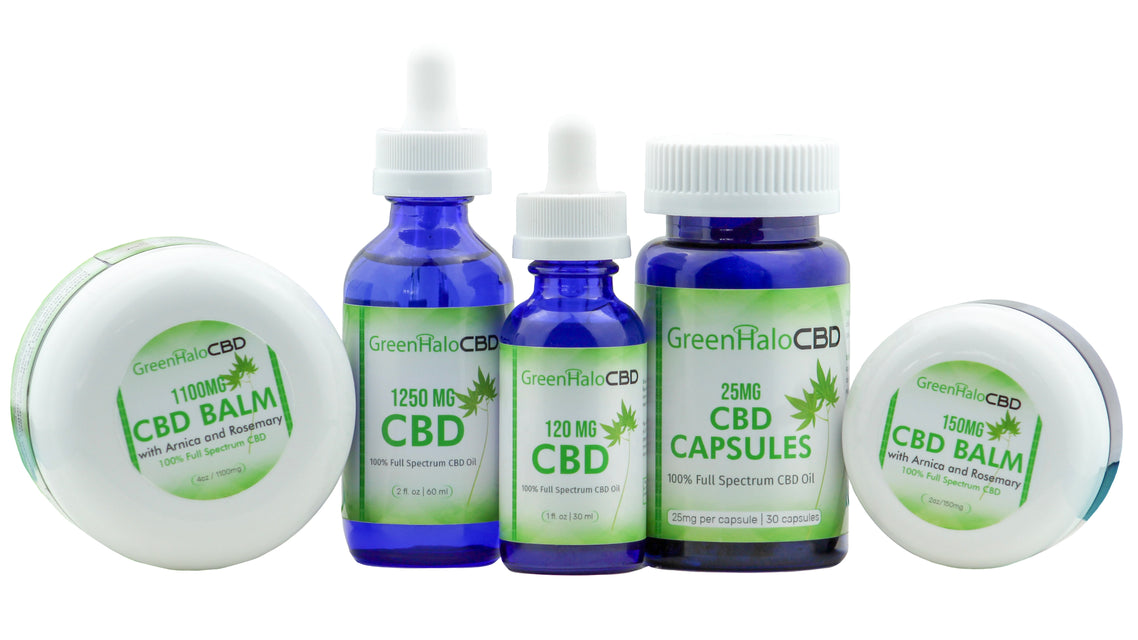 Green Halo CBD product line