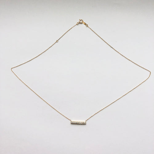 7 DIAMOND BAR NECKLACE