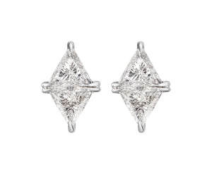 RHOMBUS DIAMOND STUDS