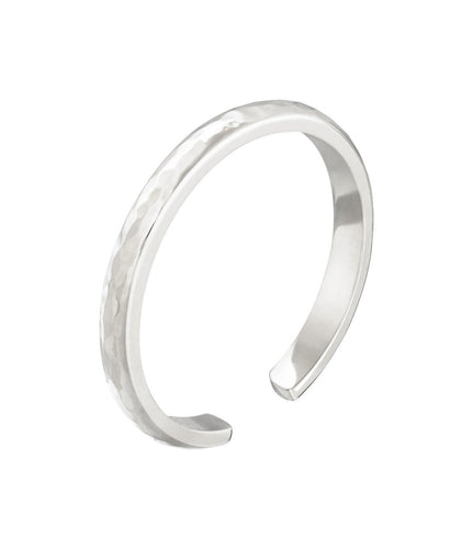 SKINNY CUFF RING - WHITE GOLD