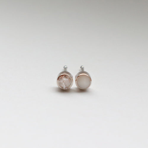 BEZEL EARRINGS - OPAL