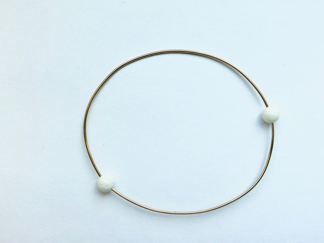 RESORT WIRE BRACELET - WHITE