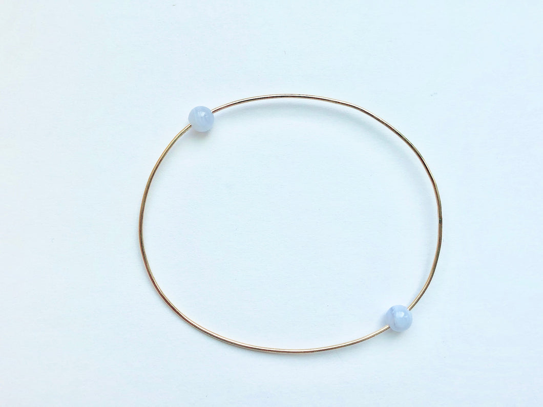 RESORT WIRE BRACELET - LIGHT BLUE