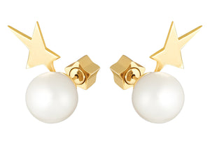 STAR WITH PEARL - YELLOW GOLD