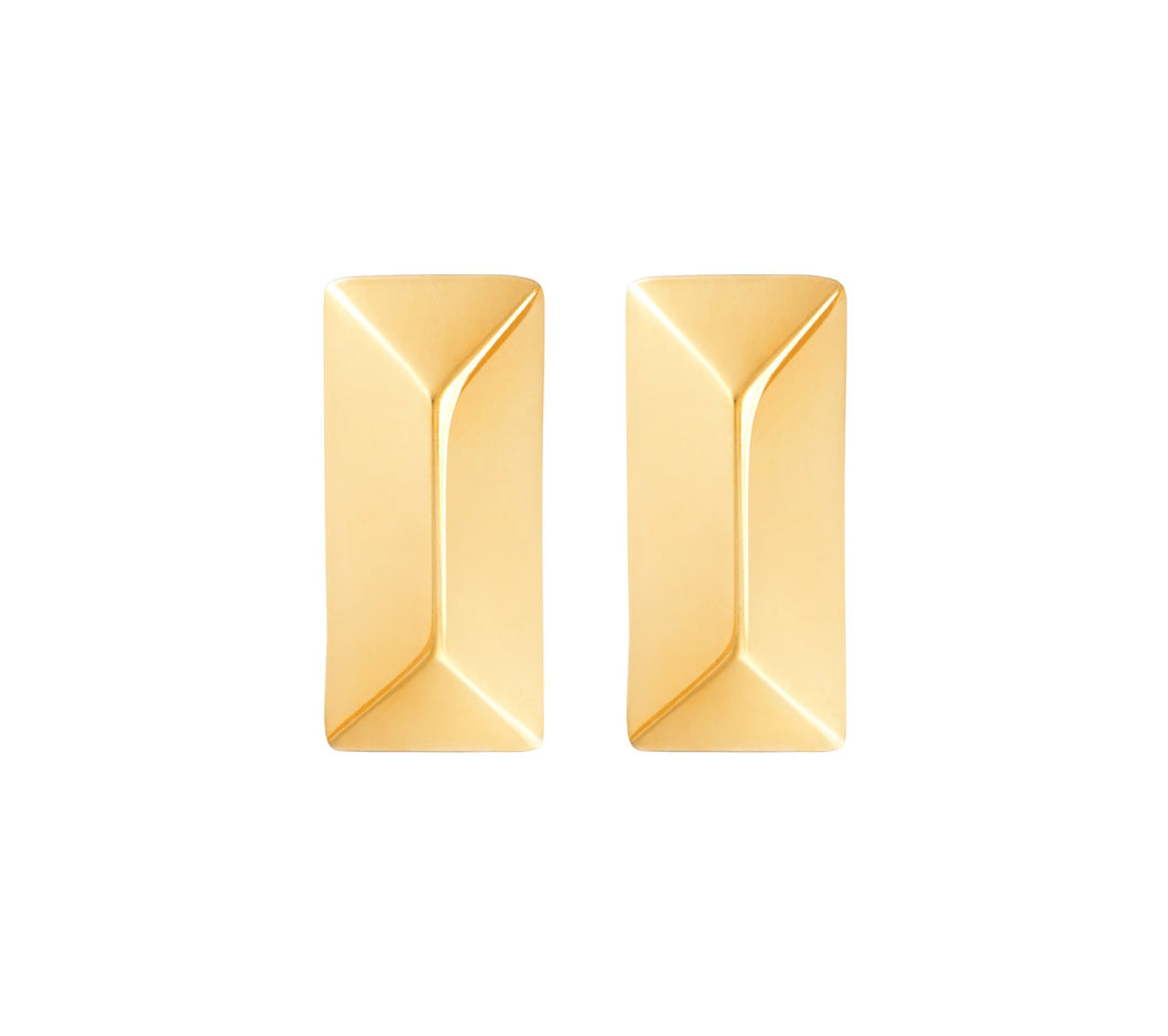 RECTANGLE STUDS - YELLOW GOLD