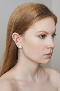 STAR THUMBTACK STUDS - YELLOW GOLD