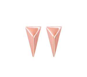 TRIANGLE STUDS - ROSE GOLD