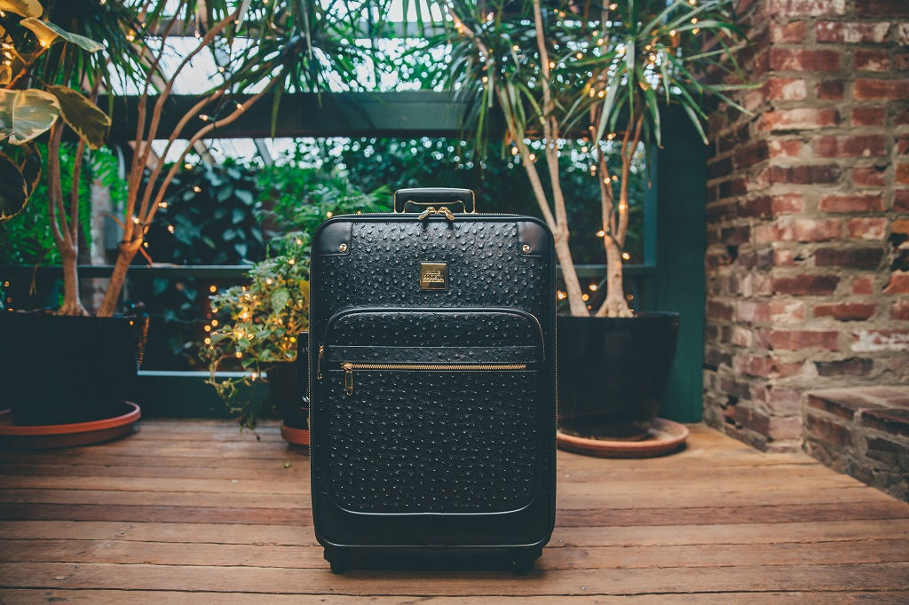 The Crown Collection Black Roller Luggage