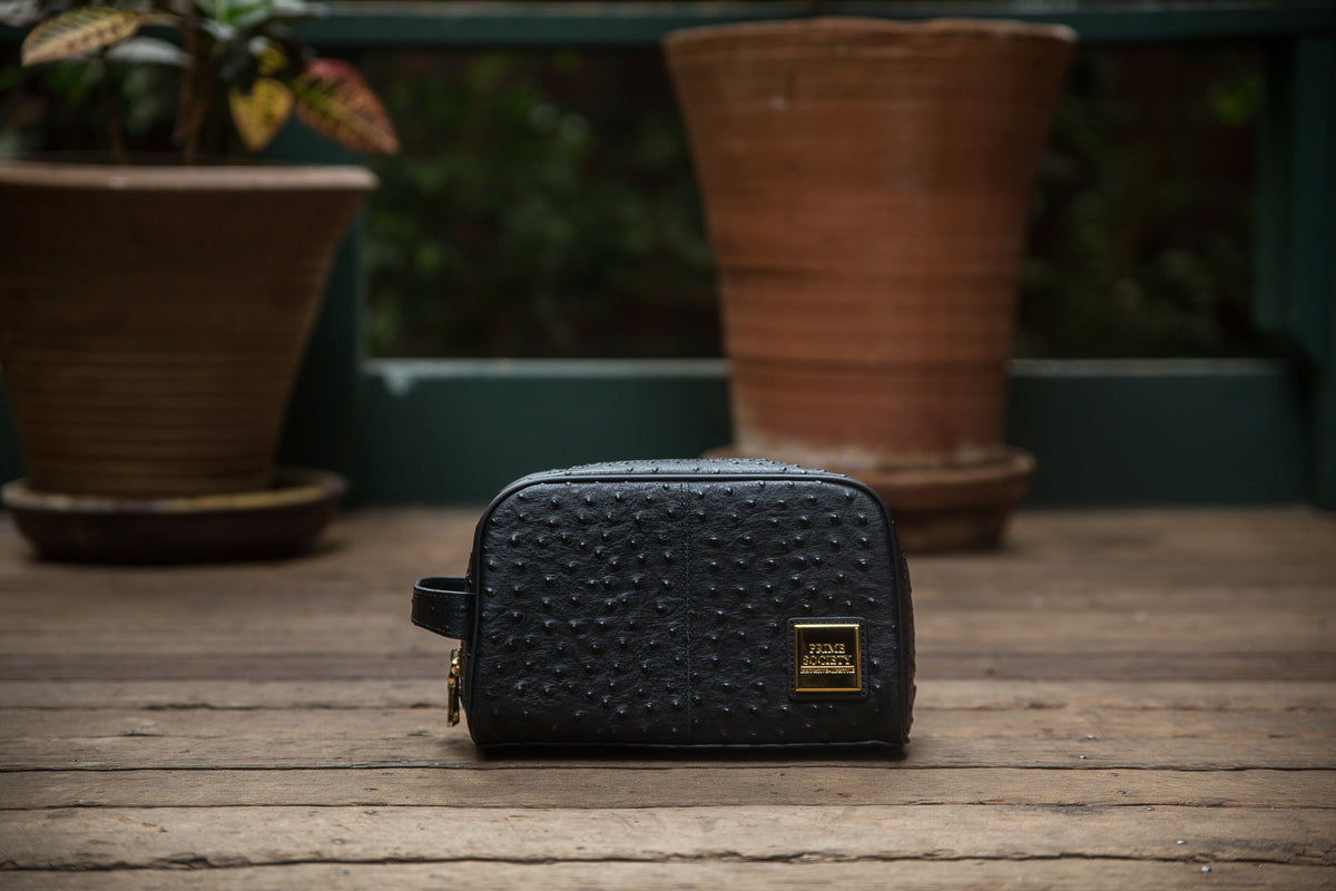 The Crown Collection Black Toiletry Bag