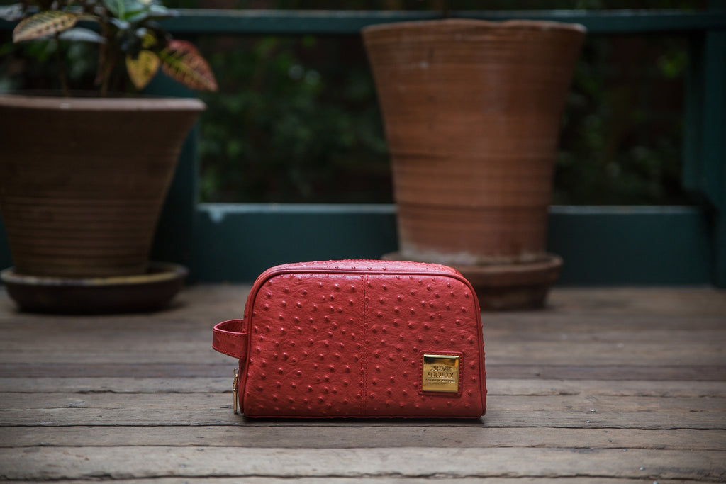 The Crown Collection Red Toiletry Bag