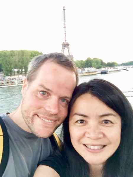 Chris and Lin ter Horst in Paris. Founders of Maui Fruit Jewels.