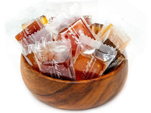 Individually wrapped Exotic Fruit Jellies, Mango, Guava, Passion Fruit, Papaya. Gourmet Gift option.