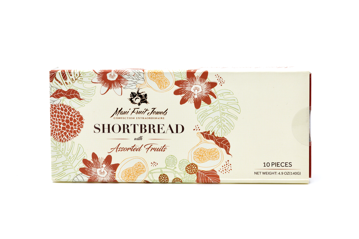 10-Piece Shortbread with Hawaii Fruits (5 Flavors)