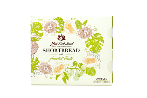 20-Piece Shortbread with Assorted Fruits
