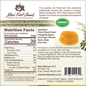 4 Oz. Pineapple Hawaii Fruit Paste by Maui Fruit Jewels