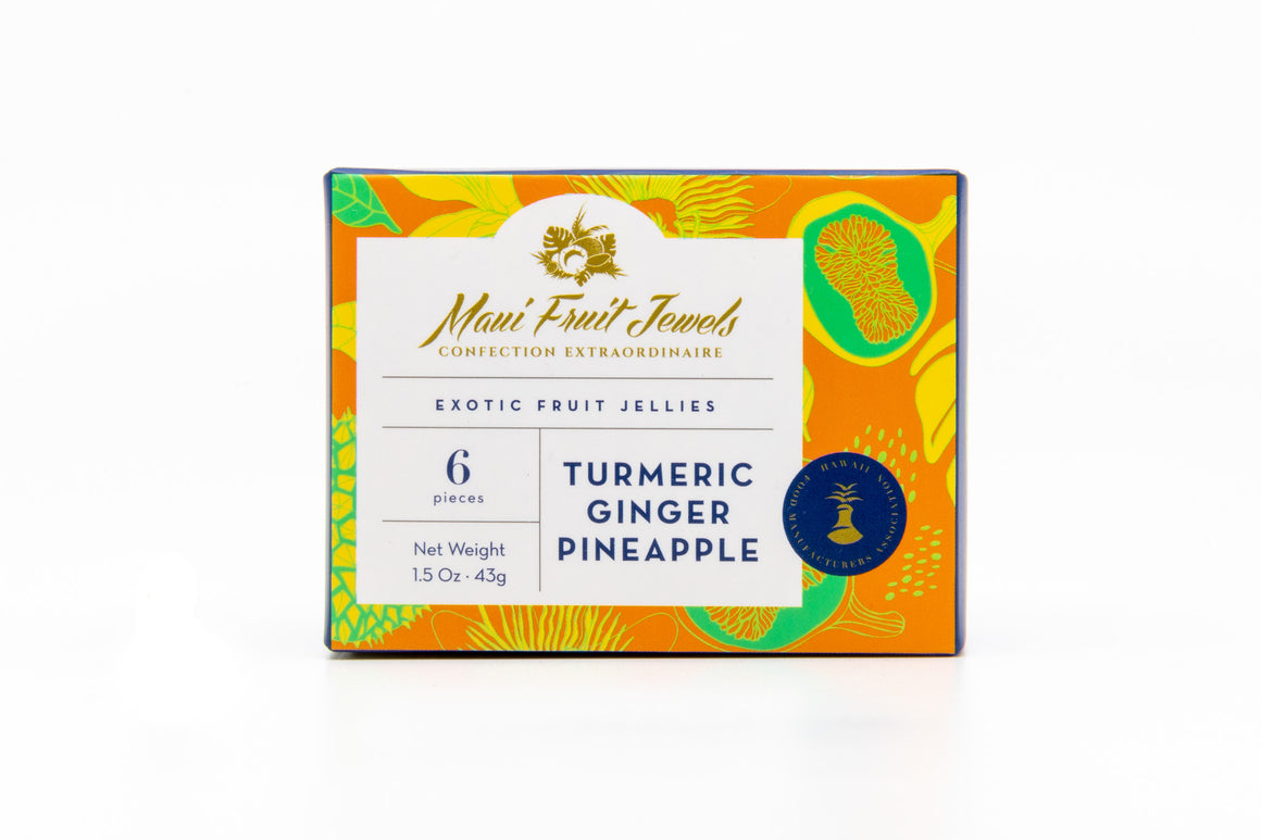 Turmeric Ginger Pineapple Fruit Jellies - Maui Fruit Jewels