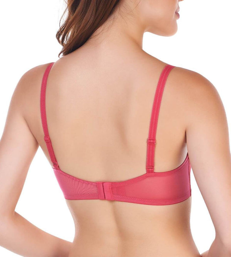 Airy Blossom Wired Push Up Bra - RIPE RASPBERRY