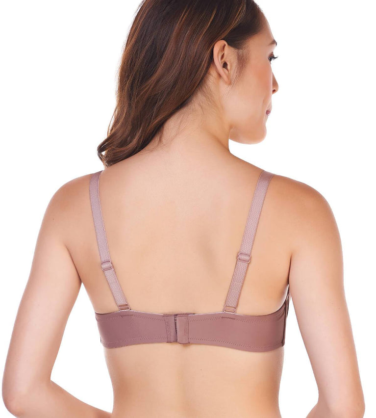Everyday Basic Non-Wired Push Up bra - CHOCOLATE MOUSSE