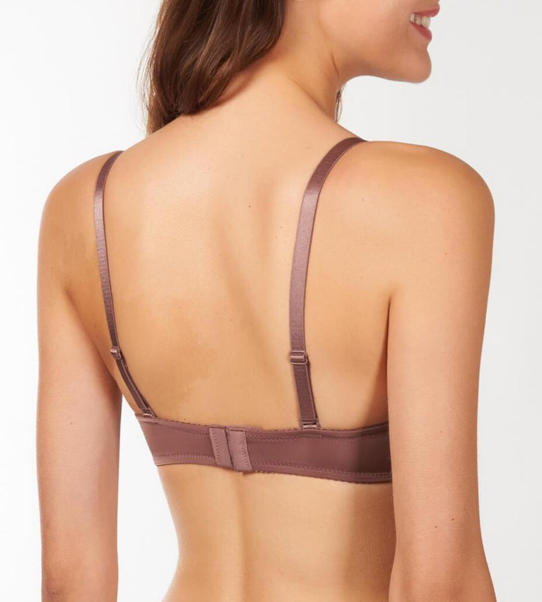 Everyday Wired Push Up Bra With Detachable Straps - ROSE BROWN