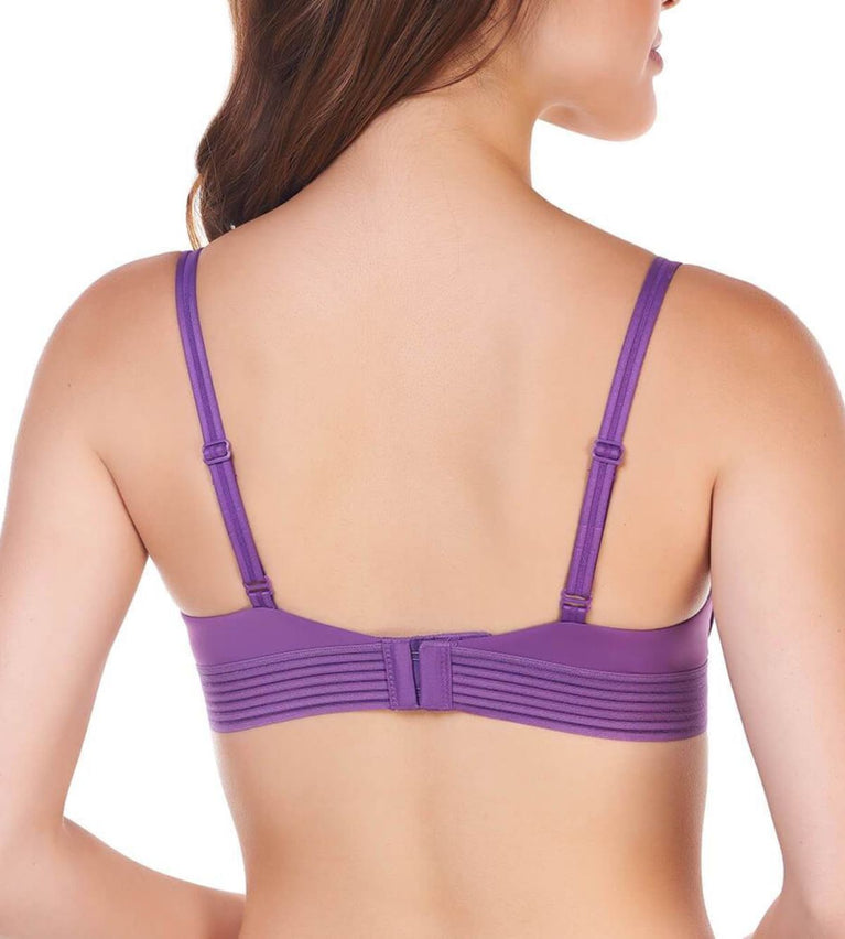 Magic Wire Lite Deep V Non-Wired Push Up Bra - VIOLET