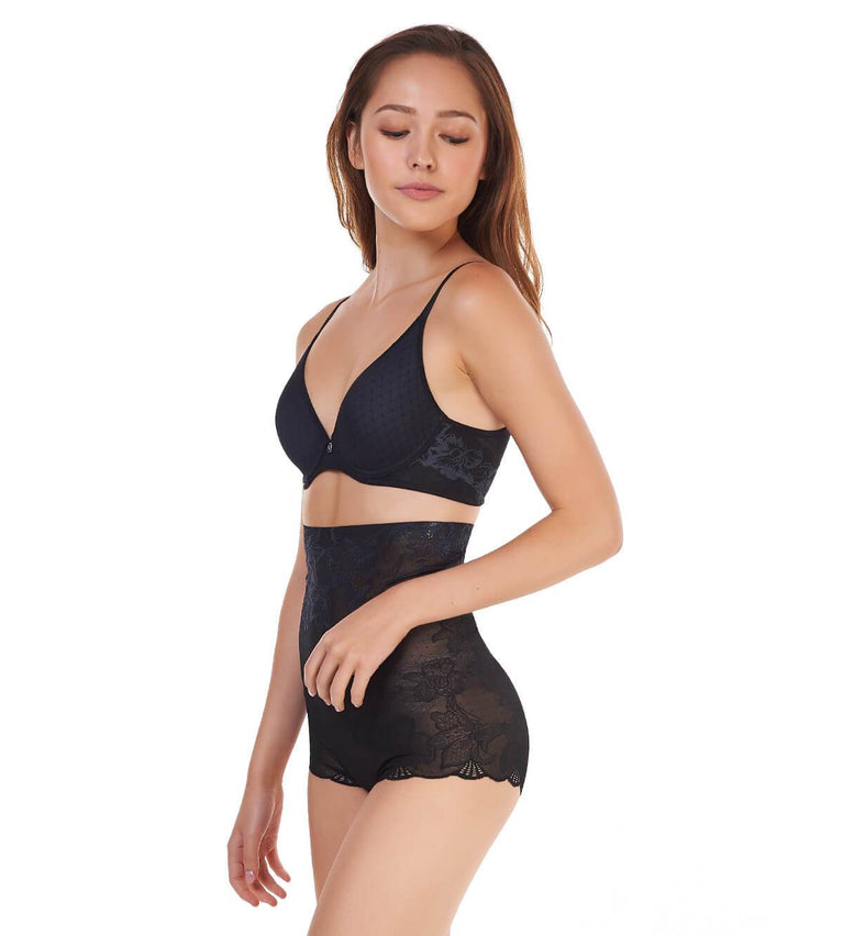 Magic Wire Lite High Waist Short Girdle - BLACK