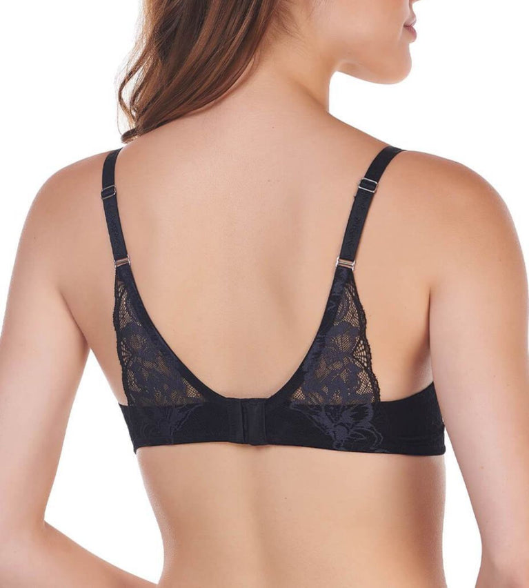 Magic Wire Lite Non-Wired Push Up Bra - BLACK