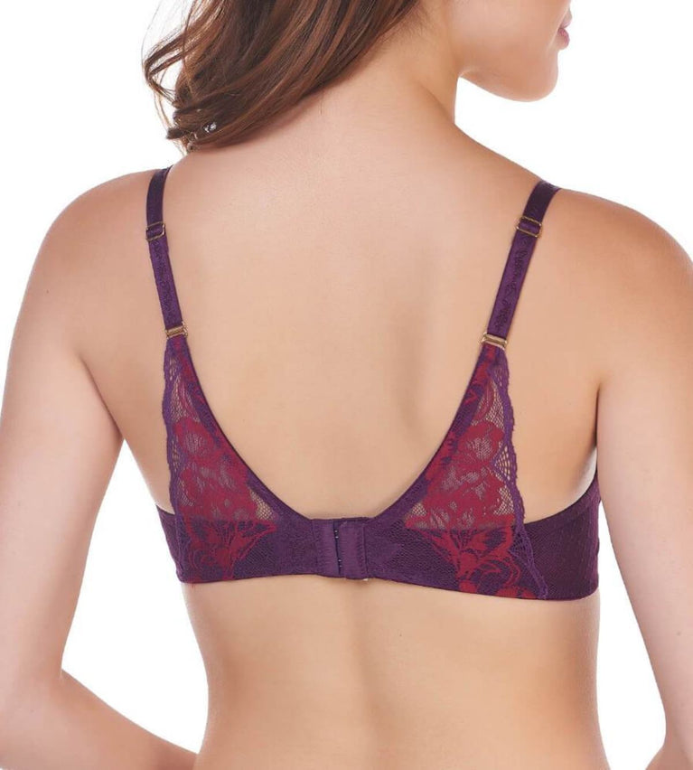 Magic Wire Lite Non-Wired Push Up Bra - PLUM PURPLE